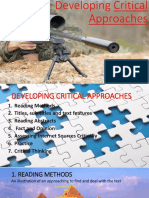Developing Critical Approaches