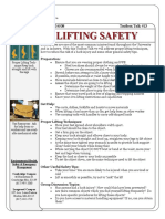 Toolbox Talks Lifting Safety English