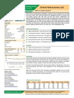Orient Refractories Ltd Initiating Coverage 21062016