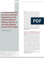 Confessionalization processes and their importance to the understanding of Western History in the Early Modern period