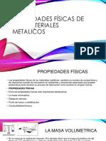 Propiedades Físicas de Los Materiales Metálicos