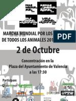 Cartel Marcha Mundial Valencia 2010