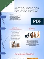Modos de Producción Comunismo Primitivo