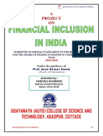 Financial Inclusion in India(2017) Sabana