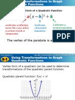 5-1 Quadratic Transformations