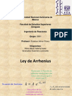 Ecuacion de Arrhenius