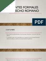 Fuentes Formales Derecho Romano