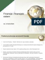 Finansije i Finansijski Sistem