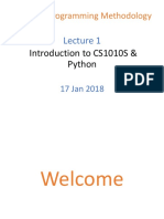 CS1010S Lecture 01 - Introduction