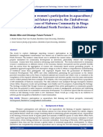 Current trends on women's participation in aquaculture / fish farming and future prospects; the Zimbabwean perspective