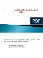 Eligibility and Qualification Criteria