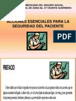 Acciones Esenciales Para La Seguridad Del Paciente