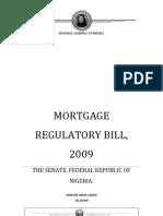 Mortgage Regulatory Bill, 2009, SB. 288