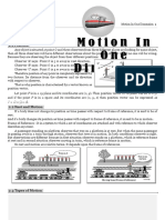 1- Dimension Motion