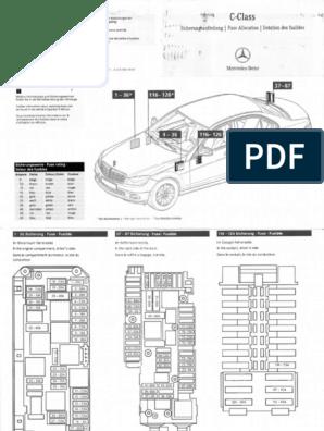 W212 Sicherungsbelegung Pdf