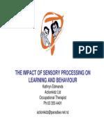 Kathryn Edmands the Impact of Sensory Processing