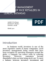 Inventory Management Control of Rice Retailers in Lemery