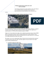 The Top 10 Biggest Geothermal Power Plants in the World