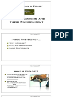 Principles of Ecology - Handout for Biology chapter 2