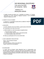 Boletim Informativo 1 Congresso Regional Escoteiro 2018