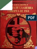 Blasco Ibáñez - HISTORIA DE LA GUERRA EUROPEA DE 1914 (TOMO 2)