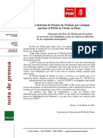 Rueda de Prensa RPT PSOE