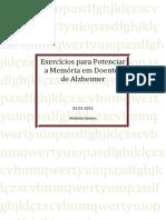 Exercícios Para Potenciar a Memória Em Doentes de Alzheimer