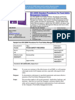 ISO 22000 Food Safety Policies and Procedures Sample