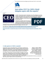 What Makes the Ideal Airline CEO