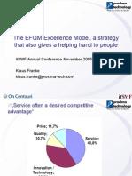 Presentation EFQM Excellence Model & RADAR Scoring System
