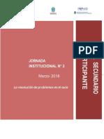 2 Jornadas 2018Material Para Profesores_Resolución de Problemas