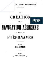 La creation de la Navigation Aerienne au moyen de Pteronaves