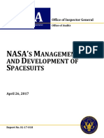 NASA Management and Development of Spacesuits