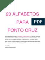 20 Alfabetos Para Ponto Cruz