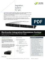 Datasheet Rectiverter Integration Standalone 48 VDC 3kVA 1ph