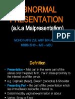 O&G - Abnormal Presentation