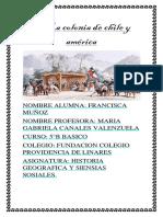 La Colonia de Chile y América
