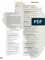 1Thought Leadership for Africa's Development