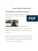 Un Recorrido Por Calles de Montevideo Que Inspiraron a La Música Uruguaya