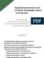 Role of Awqaf