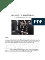 Beneza_philosophy of Teenage Rebellion