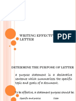 Writing Effective Letter