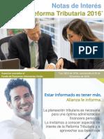 Notas de Interés Reforma Tributaria 2016