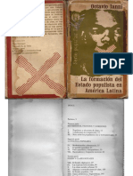 IANNI, O. La Formación Del Estado Populista en América Latina (Parte I)
