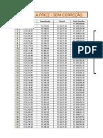 Corrigir Tabela Price Pela TR