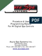 AcuraSpa Digital Controls User Manual.revc.07