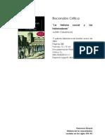 Recensión Crítica-La historia social y los historiadores