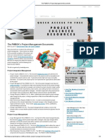 The PMBOK's Project Management Documents