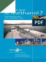 Qu Est-ce Que. Le Méthanol_ Information Pour Une Utilisation Sûre. Methanex Est Le Leader Mondial de La Production Et de La Fourniture de Méthanol.