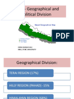 Nepal and Its Geographical Division